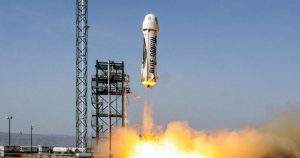New Shepard rocket ready to boost Bezos and three crewmates into space